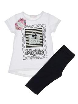 Купити Трикотажний костюм з бриджами для дівчинки  fe27b2e32b4a0
